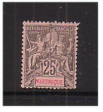 Martinique - SG 40 - Mounted Mint  1882 - 25c black/rose