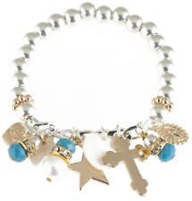 Bibi Bijoux Ball Bracelet with Blue Beaded Charms