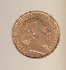 MONACO 100 FRANCS OR 1886 RARE TTB