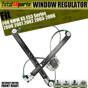 Electric Window Regulator W/o Motor for BMW X5 E53 00-06 Front Right Driver Side