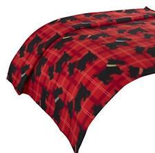 Dreamscene Fleece Throw Soft Scottie Dog Black Red Sofa Bed Blanket 120 X 150cm