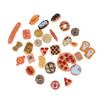 10pc Home Craft Mini Food Ornament Miniature Dollhouse Decor Hairpin Phone~QA