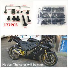 Universal Aluminum Black 177 Pcs Fairing Bolt Kit Bodywork Screws For Motorcycle