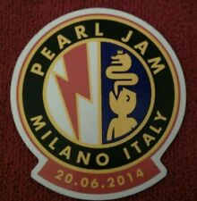 More details for pearl jam milan italy show concert lighting bolt tour 2014 sticker new