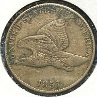 1857 1C Flying Eagle Cent (59815)