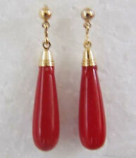 stylish 18KGP golden ruby Dangle & Chandelier earrings