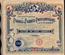 Plaques & Produits Photographiques Paris France  1906 * Top decorative / x-rare