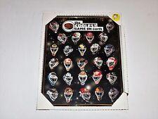"""NHL Coolest Game On Earth Vintage 1997 Hockey Masks' Framed Poster 21"""" x 16"""""""