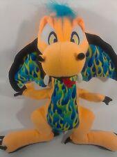 "Toy Factory Scorch Dragon Plush 16"" Orange Stuffed Animal Fantasy 15"" Wingspan"
