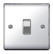 BG Nexus Metal NPC12 - POLISHED SHINY CHROME Single Light Switch 1 Gang 2 Way
