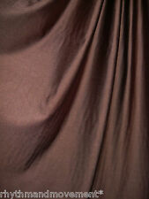 Dance Costume Lycra Fabric Chocolate Brown Shiny Nylon Spandex 50cm - 150cm wide