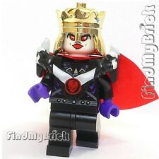 C436 II Lego Skeleton King Custom Minifigure w/ Armor Pauldron Crown & Cape NEW