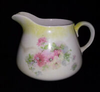 Homer Laughlin Genesee Pitcher Jug Painted Daisies Floral Antique Shabby Chic