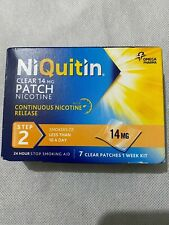 2 x NiQuitin 14mg Clear 24 Hour Step 2  7  Patch - 1 Week Kit