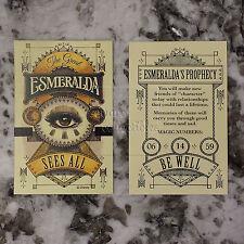 Disneyland 60th Esmeralda Fortune Card Set Main Street USA Disney Fortune Teller