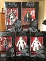 Star Wars The Black Series 2 Range Trooper#64 Han Solo#62 Ray#58 Lando#65 6 Inch