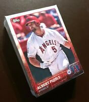 50) ALBERT PUJOLS Angels 2015 Topps Baseball LOT Card #A-10