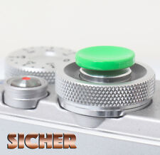 SICHER Soft Release Shutter Button for Cameras. Quality Brass. GREEN Concave.