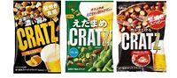 """Glico """"CRATZ"""" Pretzel, Consomme, Edamame, Pepper Bacon, 42g, Japan"""