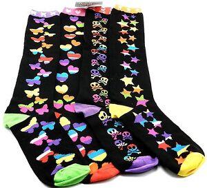 Women's Body Rage Hot Topic Bio worl Mix n Match Multi Socks( Set of 2 pairs)