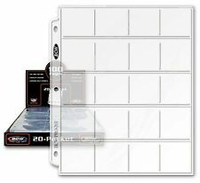 "BCW Pro 20-Pocket Pages Pocket Size: 2"" x2"" 20 Pages - Coin Collecting Supplies"