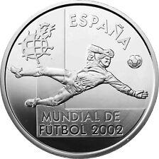 Spanien 10 Euro Silber 2002 FIFA Fussball WM: Japan und Korea Torwart Guante