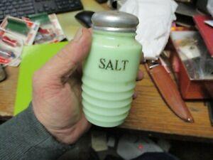 Jeannette Depression Jadite Jadeite Ringed SALT  Shaker