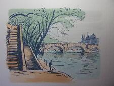 59/  AQUARELLE PARIS / Le pont Neuf