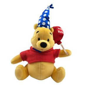 "Gund Classic Winnie The Pooh, Disney, Happy Birthday Pooh Bear Plush, 11"" Tall"