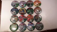 NFL Mixed Lot of 16 Large Team Buttons Pins Pinbacks 49ers Chiefs Eagles #1