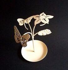 Anillos de metal titular de la joyería de pendientes de pantalla de almacenamiento de información Pie Crema Mariposa