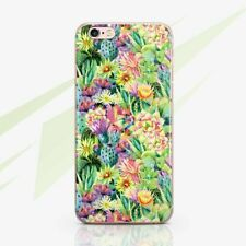 Floral TPU Rubber Case For New iPhone XS Max Cactus iPhone 6s 7 8 Plus Snap Case