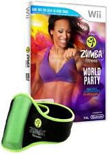 Nintendo Wii Zumba Fitness World Party Incl. guaine tedesco come nuovo