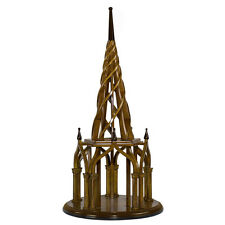 "Nirvana Spire Architectural 3D Wooden Model 21.75"" Spiral Belltower Home Decor"