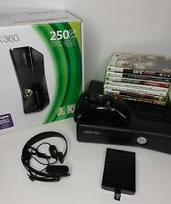 Xbox 360 Console 250Gb - incl. 7 Games -  Boxed - 8 Games - Free P & P