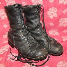 Vintage Men's Military Combat Boots Black Leather Size 7 Wide