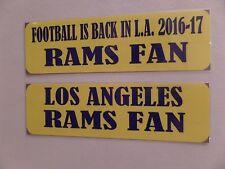 LOS ANGELES RAMS, NFL , FOOTBALL IS BACK IN L.A. 2016 SEASON, 2- BUMPER STICKERS