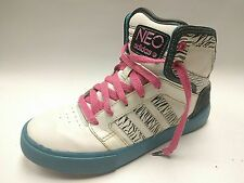 Adidas Selena Gomez Neo White Zebra Print High Top Shoes Girls Size 4.5