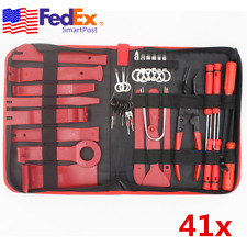41x Car Panel Removal Pry Tool Kit w/ Electric Terminal Wiring Connector Puller