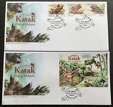 2007 Malaysia Amphibian Species Frogs 3v Stamps & MS on 2 FDC (Melaka Cachet)