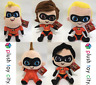 "DISNEY PIXAR 'INCREDIBLES 2' SOFT PLUSH TOYS - 12"" (30CM) BRAND NEW & LICENCED"