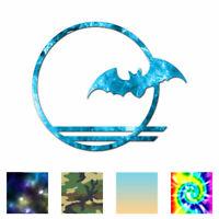 Bat Moon - Vinyl Decal Sticker - Multiple Patterns & Sizes - ebn791