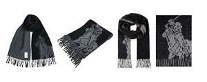 Polo Ralph Lauren Mens Reversible Oversized Pony Wool Scarf  Made in Italy O/S