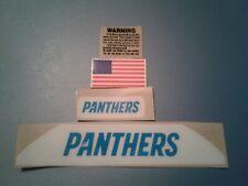 Carolina Panthers bumpers football helmet decal set