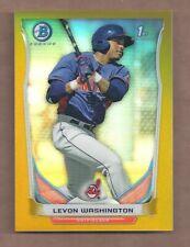 2014 Bowman Chrome Prospects GOLD REFRACTOR #BCP42 LEVON WASHINGTON 25/50