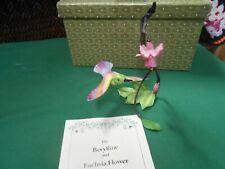 Beautiful Franklin Mint Berylline & Fuchsia Flower by Alan Singer in Great Box