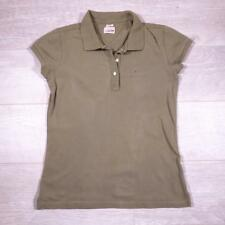 Ladies TOMMY HILFIGER Green Vintage Designer Polo Shirt T-Shirt Large #F2956