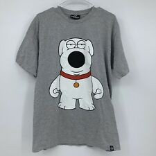 KidRobot Family Guy Brian Griffin Dog T-Shirt Martini On Back Gray Adult Size L