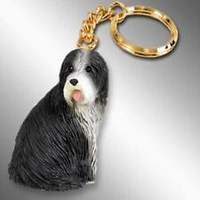 Bearded Collie Dog Tiny One Resin Keychain Key Chain Ring
