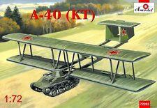 Antonov A-40 (KT) prototype flying tank using T-60 << Amodel #72202, 1:72 scale